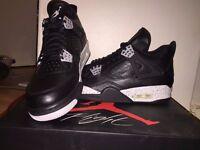 "Jordan 4 Retro ""OREOS"" - Black/Tech Grey/ White **VERY RARE** Size 7"
