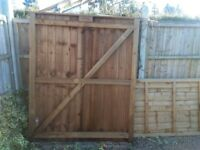 Large wooden gates brand new 6ft wide 6ft 6 high never used