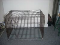 dog cage crate extra large in good condition metal base