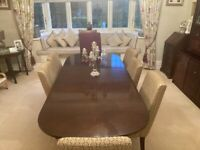 Mahogany Dining Room Table, 6 chairs and Unit