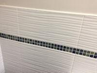Ceramic white tiles