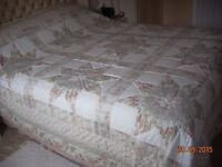 A beautiful patchwork quilt for double or king size bed