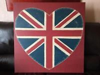 Union Jack heart canvas