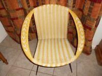 1960s Vintage Plastic Chair