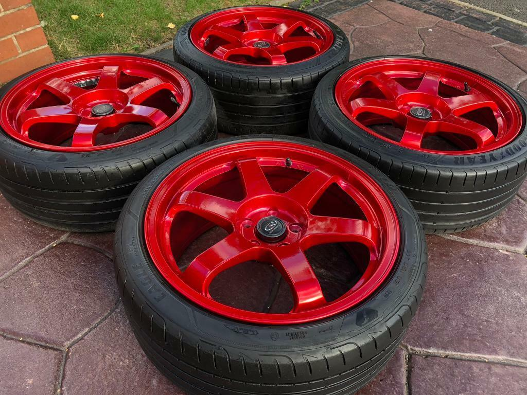 18 Rota Grid Ford Focus St Rs Zetec Alloy Wheel Goodyear Tyres