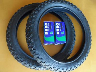 Kids Bicycle Tires and Tubes 16x2.125 Fits 16x1.75 16x1.95 Black BMX 16