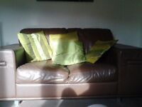 Very strong 2 seeter faux leather sofa with matching footstool. Need gone ASAP now open to offers