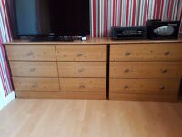 4 Piece Bedroom Furniture Set (2 Wardrobes and 2 Drawer Units)