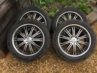 "4 x 20"" Wolfrace alloys and tyres - suit Mitsubishi 6 stud pattern"