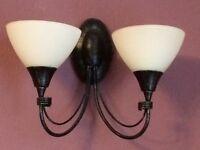2 x Double lamp Wall Lights