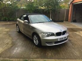 BMW 1 series convertible silver 2.0i