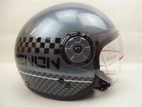 New Motorbike Safety Helmet Open Face Motorcycle Grey - Vespa Jet With Drop Down Wind Visor