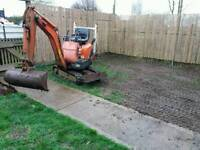 Rubbish & site/garden clearance/ digger hire