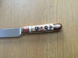 Royal crown derby china 1128 Imari large serving knife