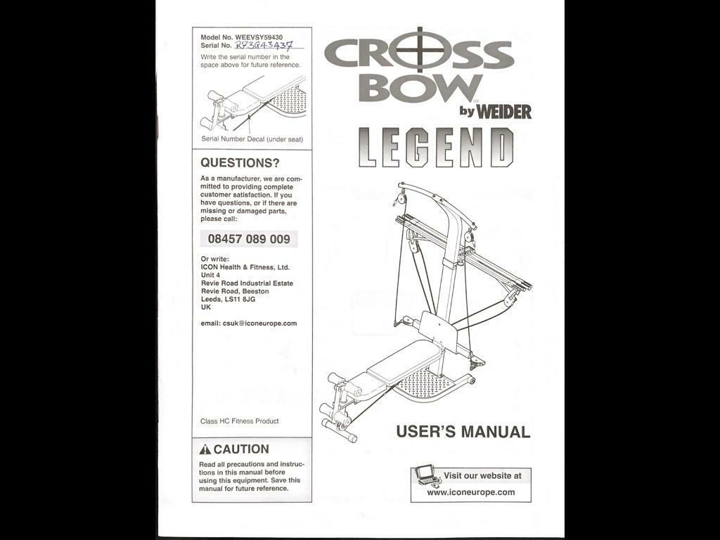 Weider crossbow legend home gym used in denham london gumtree weider crossbow legend home gym used pooptronica Image collections