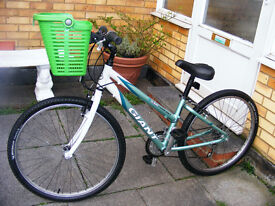 """SMALL LADIES 26"""" WHEEL BIKE WITH NEW FITTED BASKET IN GREAT WORKING ORDER"""
