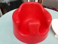 Bumbo red with tray