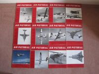 COMPLETE SET OF VINTAGE 'AIR PICTORIAL' MAGAZINES FOR 1961