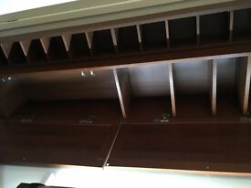 Ikea billy bookshelf, cupboard and cd rack