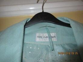 Ladies size 16 M&S pale green linen summer jacket