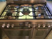 John Lewis Stainless Steel Range cooker with extended warranty