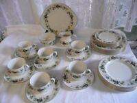 Royal Doulton Bone China Larchment Dinner/Tea Set