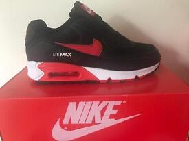 Nike air max 90s brand new red black white size 10
