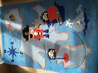 Boys pirate rug and decorations