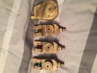 3 x tmc bite alarms with receiver (camo) and a set of camo buzz bars and banksticks