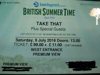British Summer Time - TAKE THAT - Hyde Park, Saturday 9th July - PREMIUM VIEW