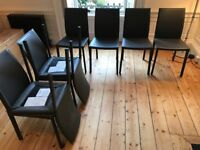 BoConcept Zarra Dining Chairs; Charcoal Grey x8; 4 yrs old; GREAT condition
