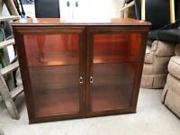 Glazed display cabinet FREE DELIVERY PLYMOUTH AREA