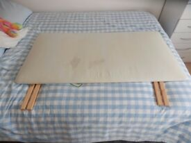 small double bed padded headboard