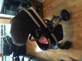 CHICCO 2-1 PRAM/STROLLER- CURRENT MODEL-EXCELLENT CONDITION