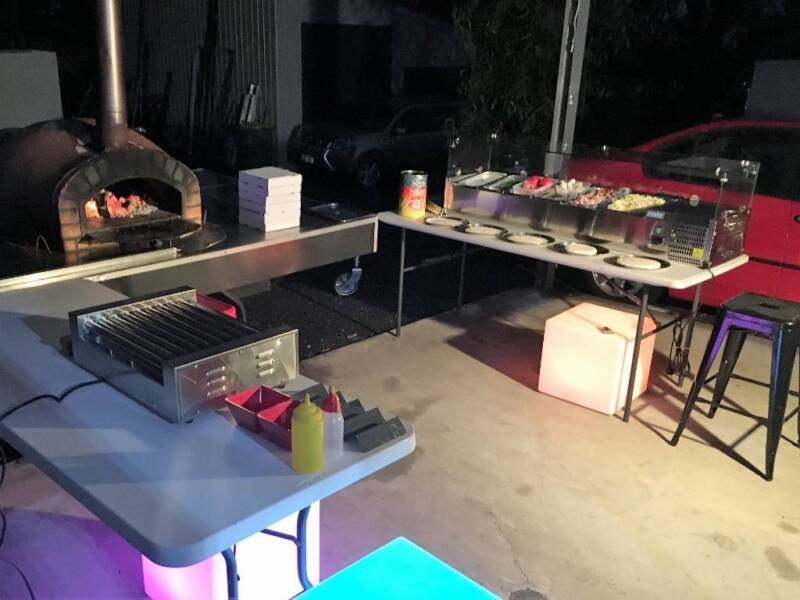 DIY Woodfired Pizza/Hot Dog Combo Trailer Hire- great party hire