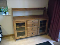 Pine sideboard/dresser with drawers and doors