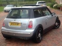 MINI COOPER PAN SUNROOF R50 & R53 1.6 Cooper 3dr 12months mot NEW GEARBOX/CLUTCH JUST FITTED