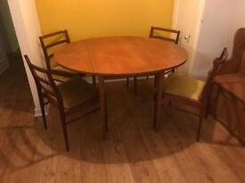 Oval Drop-Leaf table & Four Chairs