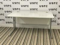 White Cantilever Office Desk