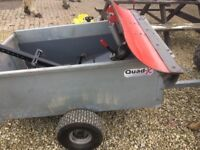 Snow plough and trailer