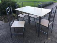 Modern Light Wood Dining Table with 4 chairs