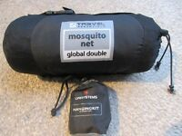 NEW Travel Essentials Double Mosquito Net & Lifesystems hanging set