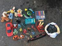 Job lot toys Ben 10 figures Ferrari car