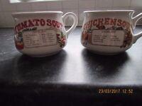Vintage Heinz Soup Bowls x 2