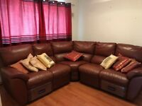 Buy one get one free excellent leather condition good as new sofa