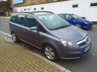 56 Plate Vauxhall Zafira 7 Seater, 1.6cc Petrol, Manual, Low Miles - Only 65,000 MOT December 30th