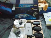 2.4GHZ Colour wireless surveillance kit 2x camera as new