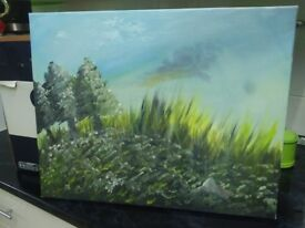 Canvas painting of nature