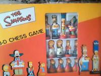 Simpsons 3D chess game