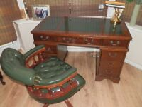 Captains leather Desk and chair